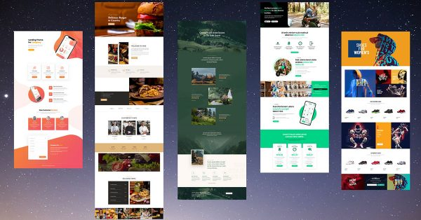 Divi Theme homepage Templates